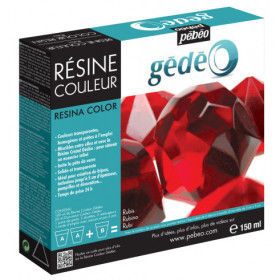 766152 Gedeo Colour Resin 150ml Ruby
