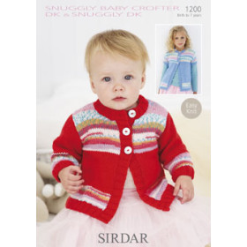 Sirdar Booklet 1200: Snuggly Baby Crofter Fair Isle Cardigan