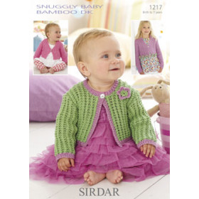 Sirdar Booklet 1217: Lace Cardigan in Baby Bamboo DK