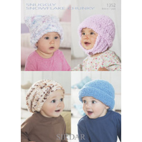 Sirdar Booklet 1352 : Snuggly Snowflake Chunky Hats