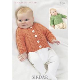 Sirdar Booklet 1367 : Baby Cardigans in Snuggly DK