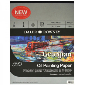 "Daler Rowney Georgian Oil Paper 16"" X 12"""