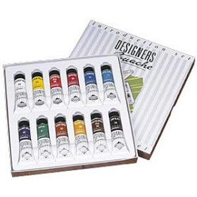 136900001  Daler Rowney Designers' Gouache Introduction Set 12x15ml Tubes