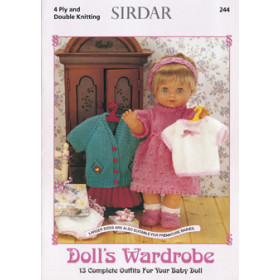 Sirdar Booklet 244: Doll's Wardrobe