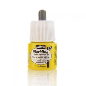 130-001 Marbling Colour 45ml Jaune Citron