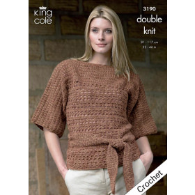 King Cole Booklet 3190 - Double Knit 81-117 cm Tunic & Waistcoat