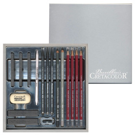 CR40017 Cretacolor Siver Box Drawing Set