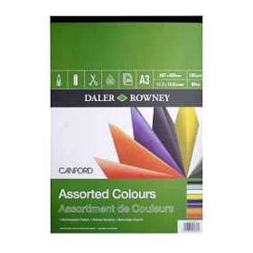 403350300 Daler Rowney Canford Pads Assorted A3