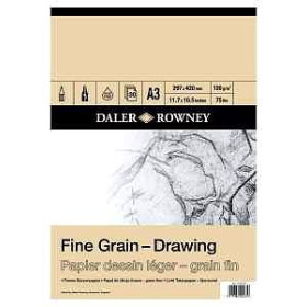 437035300 DR Fine Grain Drawing Pad A3 120gsm