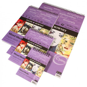 437150 DR Mixed Media Pad Spiral 250 gsm
