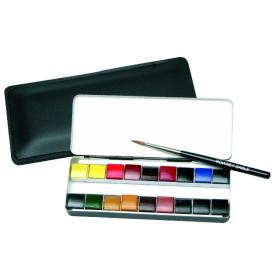 130900181 Artists Watercolour 18 Quarter Pans  Miniature Box