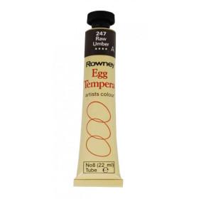 133008 Rowney Egg Tempera Colour 22ml. 247 Raw Umber
