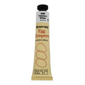 133008 Rowney Egg Tempera Colour 22ml. 009 Titanium White