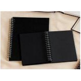 813600400 DR Portrait Spiral Book Black A4 180 gsm