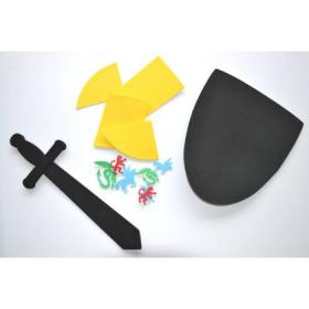 GT41773 Grim'tout Craft Foam Kit Shields & Swords