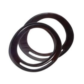 2504421  Bag Handle Wood Dark Brown