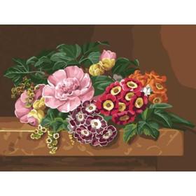 C35N30 Bouquet Of Camelias 40 x 50 cm