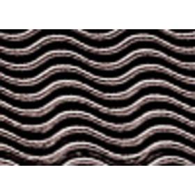 8257612 Corrugated Board Wave Black 50 x 70 cm