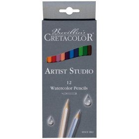 CR28112 Cretacolor Artist Studio 12-Watercolor Pencils