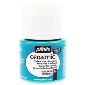025-016 Pebeo Ceramic Paint Turquoise 45ml