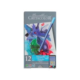 CR24012 Cretacolor Marino Aquarelle Pencils 12 Set