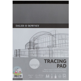435935400 Simply Tracing Pad 60gm A4.