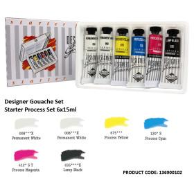 136900102 Daler Rowney Designer Gouache Process Set (6 * 15ml)