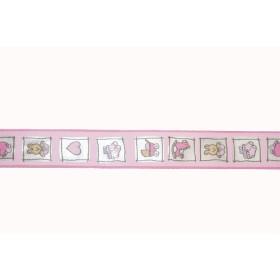 6276250 Ribbon Natale Rosa 25 mm / Per metre
