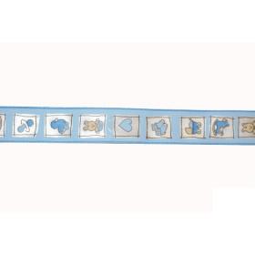 6276260 Ribbon Natale Blue 25 mm / Per metre
