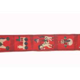 6323553 Ribbon Christmas 40 mm Red / Per metre