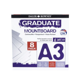 329308091 A3 Graduate Mount Board Pack of 8 Ice White