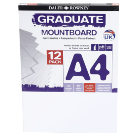 329412091 A4 Graduate Mount Board Pack of 12 Ice White