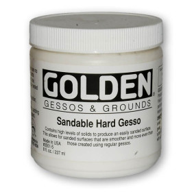 3551-5 Golden Sandable Hard Gesso 236ml.