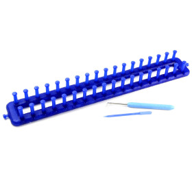 T1960 Straight Knitting Loom Blue