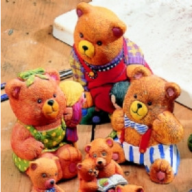 M055 Teddy Bear Mould Set 6