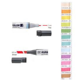 LGM-B3 Twin Tip Zig Kurecolor Marker Pens 12 Natural Colours