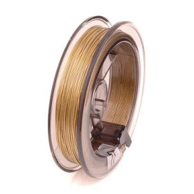 2237774 Wire Flower Making Nyloncoated Thread Gold