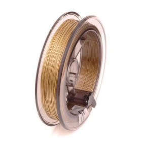 2237874 Wire Flower Making Nyloncoated Thread Gold