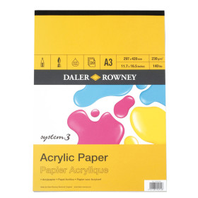 403600300 Daler Rowney System 3 Acrylic Pad A3