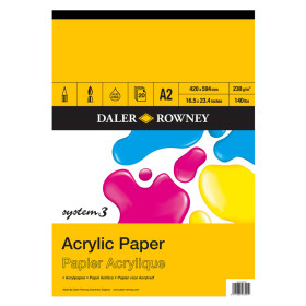 403600200 Daler Rowney System 3 Acrylic Pad A2