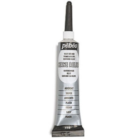 774000 Pebeo Cerne Relief Outliner 20ml Silver
