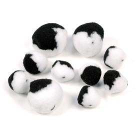 2681200 Pompoms Mix White/Black