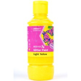 Reeves Glitter Paint Light Yellow 250ml.