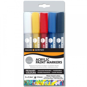 126300903 Simply Acrylic Paint Marker Set of 5