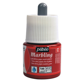 130-002 Marbling Colour 45ml Vermillion