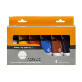 126500025 Daler Rowney Simply Acrylic Set 6x75ml