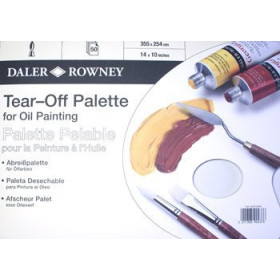 404210480 DR TEAR-OFF PALETTE FOR OIL 14 X10