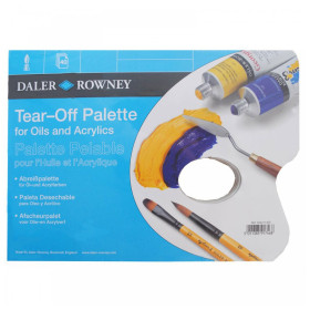 404211300 DR TEAR-OFF PALETTE FOR ACRYLICS & OILS A3