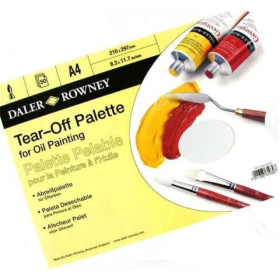 404210400 DR TEAR-OFF PALETTE FOR OIL  A4