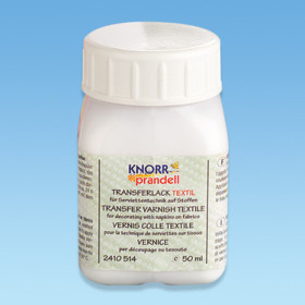 2410514 Knorr Prandell Transfer Varnish for Fabrics 50ml.